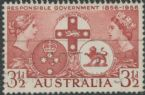 SG 289 ACSC 331g. 3½d Brown-Lake Centenary of Responsible Government variety single (AE1/320)